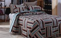 Colcha Patchwork - Queen Size - Dupla Face - C/ Porta Travesseiros - Bristol 5 - Rozac