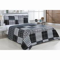 Colcha Patchwork - Queen Size - Dupla Face - C/ Porta Travesseiros - Parma 7 - Niazitex
