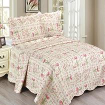 Colcha Queen Camesa Evolution Patchword 260x240cm Olivia