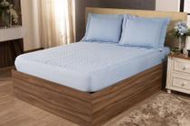 Colcha Sleep Casal Padrão 3 Peças Azul Claro - A PRODUTIVA