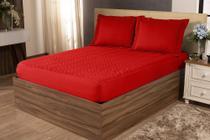 Colcha Sleep Casal Padrão 3 Peças Vermelho - A PRODUTIVA