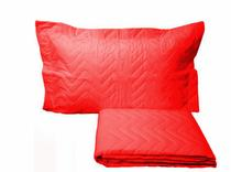 Colcha Sleep Solteiro 2 Peças Vermelho - LINHA AVULSA