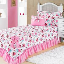 Colcha Solteiro Infantil Para Meninas Laila Cupcake Pink - Vivart