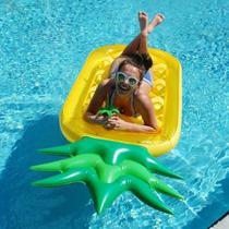 Colchão Boia Inflável formato Abacaxi Grande para piscina - Wellmix