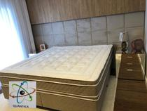 Colchão Casal (Kit Massageador)D45+Box - Suede Preto 138x188 - Semik Colçhões