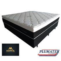 Colchão casal plumastar molas ensacadas + cama casal box   138x188x33 - Plumatex