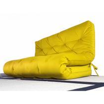 Colchão Futon Casal Dobrável Sofa Cama Amarelo - R9 design futon