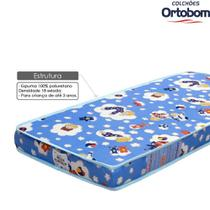 Colchao Infantil para Berco Americano 70x130x10cm D18 Baby Physical - Ortobom