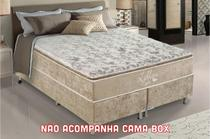 Colchão king Size Leblon light com Pilow Top e Espumas D33 cor Bege - Molas Pocket (ensacadas) 193x203x30 - Cama InBox - Moveis marfim az