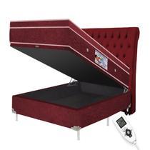 Colchão magnético casal bio quântico massageador 1,38x1,88x0,30 + cama box baú + cabeceira - Eco New Colchoes