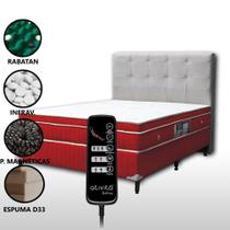 Colchão Magnético Casal Com Massageador 8 Motores e Controle + Base Box + Cabeceira Duquesa - Allmag