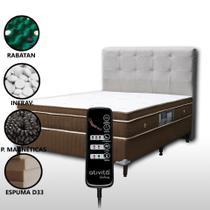 Colchão Magnético Casal Com Massageador 8 Motores e Controle + Base Box + Cabeceira Duquesa Completo - Allmag