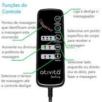 Colchão Magnético Com Controle Massageador Casal Azul Celeste + Base box + Cabeceira Branca - Allmag