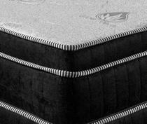 Colchão Magnético Com Controle Massageador Casal + Base box + Cabeceira Completo Preto - Allmag