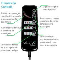 Colchão Magnético Com Controle Massageador Casal + Base box + Cabeceira Preta Completo Preto - Allmag