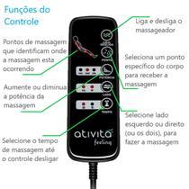 Colchão Magnético Com Controle Massageador Casal Vermelho + Base box + Cabeceira Branca - Allmag