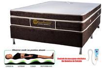 Colchão Magnético Kenko Premium Casal 1,38x1,88x27cm Plus C/ Massagem Eletrônica  Energia Bioquãntica + Cromoterapia -