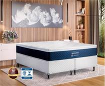 Colchão Magnético Oriental Medic Casal Exclusive Europillow Azul - 25cm de Altura -