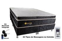 Colchão Magnético Solteiro 0,88x1,88x30cm Kenko Premium Gold C/Massageador Bioquãntico + Cromoterapia Linha Exportação -