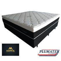 Colchão molas ensacadas casal plumastar  + cama casal box   138x188x33 - Plumatex