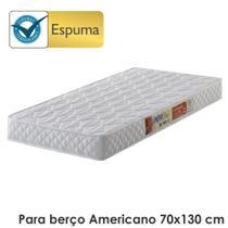 Colchão para berço padrão americano d18 branco - antiácaro, antifungo e antialérgico - 70x130x10cm - Ecoflex