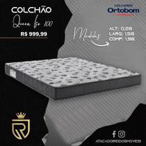 Colchão Queen Iso 100 Ortobom 1,58x1,98x0,28 -