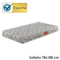 Colchão Solteiro Espuma D20 Ecoline c/ Sistema Antiácaro Antifungo Antialérgico - 78x188x12 - Ecoflex