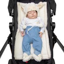 Colchonete Para Carrinho E Bebê Conforto Pele De Carneiro Macio Menino - Casa Pedro