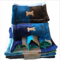 Colchonete Pet c ossinho nas laterais tecido de manta soft - (femea) - Daritex Enxovais