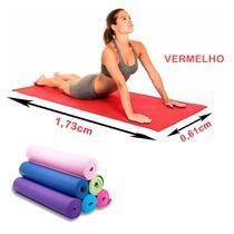 Colchonete Tapetes para Yoga/ Pilates - 1,73 x 0,61 Vermelho - SHOPUD