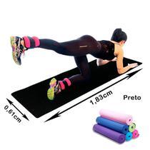 Colchonete Tapetes para Yoga / Pilates Preto - 183 x 61cm - Shopud