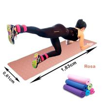 Colchonete Tapetes para Yoga / Pilates Rosa - 183 x 61cm - Shopud