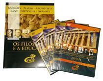 Coleçã Filosofos e a Educação I Filosofia - Editora cedic -