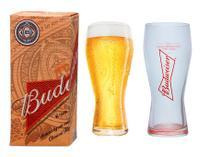 Coleção 2 copos de cerveja Budweiser 400ml - Embalagem individual - Ambev