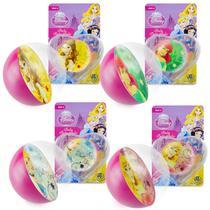 Coleção 4 Bolinhas de Silicone Importadas Princesas Disney - Dtc