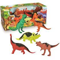 Coleção 5 Dinossauros Miniatura - Adijomar -