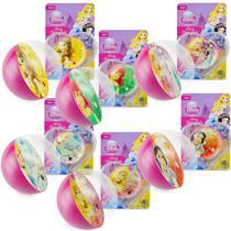 Coleção 6 Bolinhas de Silicone Importadas Princesas Disney - Dtc