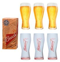 Coleção 6 copos budweiser 400ml - Embalagem Individual - Ambev