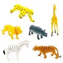 Coleção Animais Selvagens Safári c/ 6 Miniaturas em Borracha - Barcelona