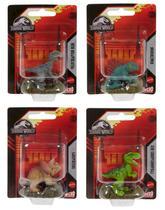Coleção c/ 4 Mini Figuras Dinossauros Jurassic World - Mattel -
