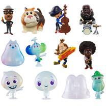 Coleção com 12 Mini Figuras Soul - Disney Pixar Minis - Mattel -
