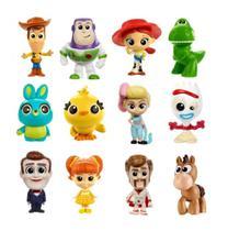 Coleção com 12 Mini Figuras Toy Story 4 - Pixar Minis - Mattel -