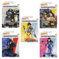 Coleção com 5 Overwatch Hot Wheels - Mattel GDG83 -