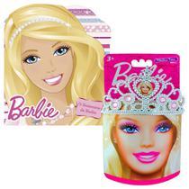 Coleção Coroa Infantil + Livro o Aniversário da Barbie - Intek/Ciranda Cultural