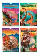 Coleção Dinossauros Incríveis Livro + Miniatura 4 Volumes - Culturama -