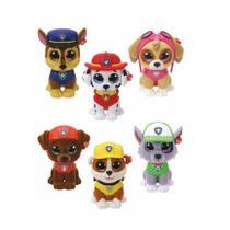 Coleção kit com 6 mini boos ty patrulha canina - dtc 4669 -