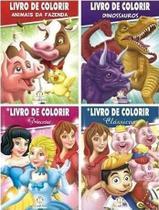 Coleção livro de colorir c/ 80 páginas - 4  livros - Blu