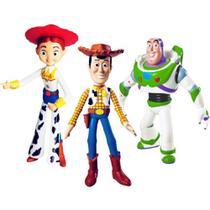 Coleção Toy Story com Woody Buzz e Jessie 18Ccm Vinil Premium - Lider