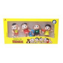 Colecao turma da monica kit 4 bonecos miniatura monica cascao cebolinha magali 8cm brinquedos menino menina - Gimp