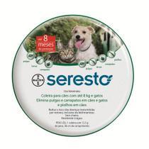 Coleira Anti Pulgas e Carrapatos Bayer Seresto para Cães e Gatos até 8 Kg -